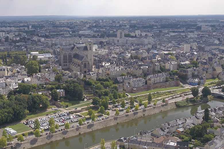 Photo aérienne, Le Mans